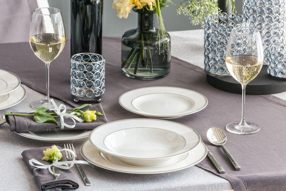 Zestaw obiadowy na 6 osób porcelana MariaPaula Nova Ecru Pure (18 elementów)