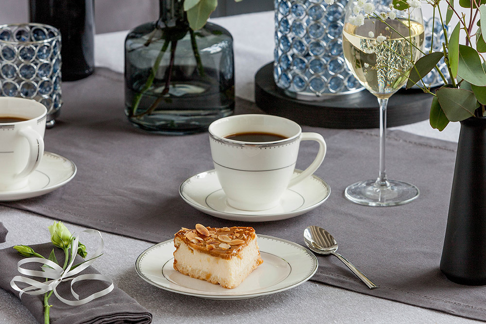 Zestaw kawowy dla 6 osób porcelana MariaPaula Nova Ecru Pure (18 elementów)