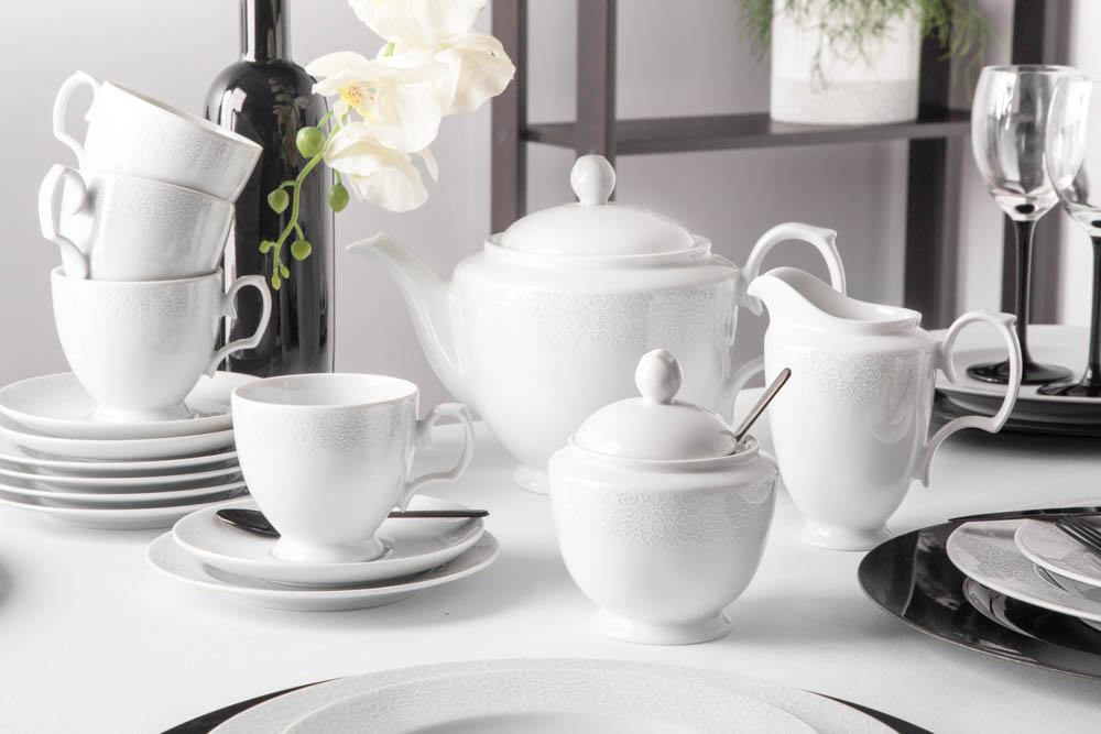 Zestaw kawowy / garnitur do kawy dla 6 osób porcelana MariaPaula Amore (21 elementów)