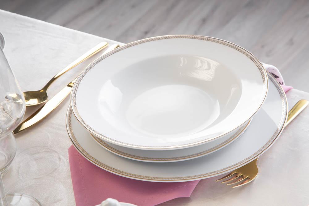 Zestaw obiadowy / serwis dla 6 osób porcelana MariaPaula Promise (18 elementów)