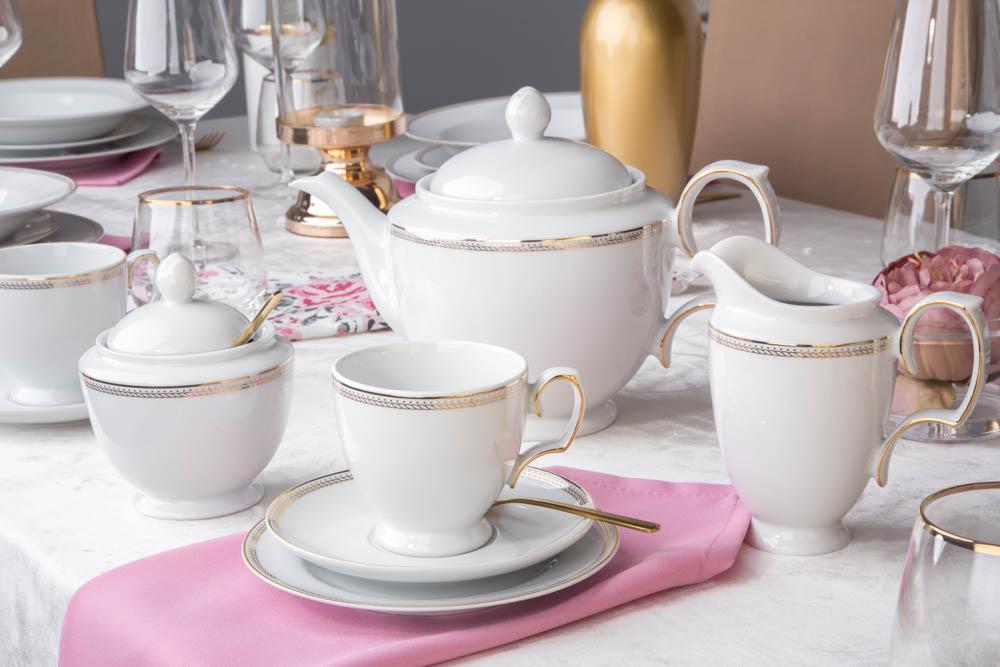 Zestaw kawowy / garnitur do kawy dla 6 osób porcelana MariaPaula Promise (21 elementów)