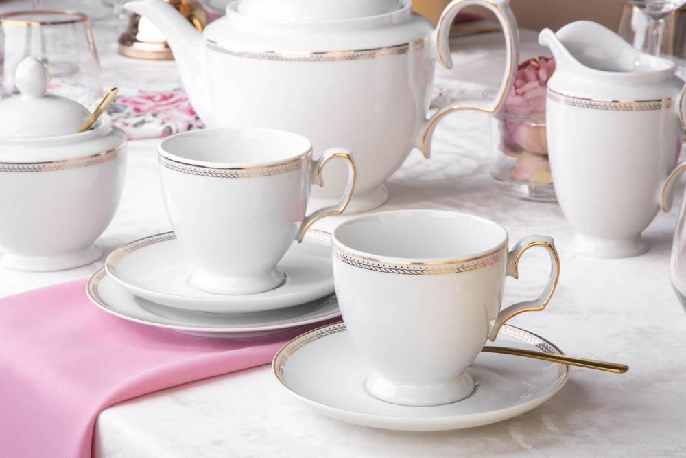 Zestaw kawowy dla 6 osób porcelana MariaPaula Promise (18 elementów)