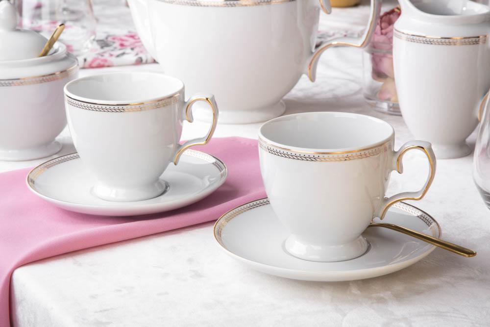 Zestaw kawowy dla 6 osób porcelana MariaPaula Promise (12 elementów)