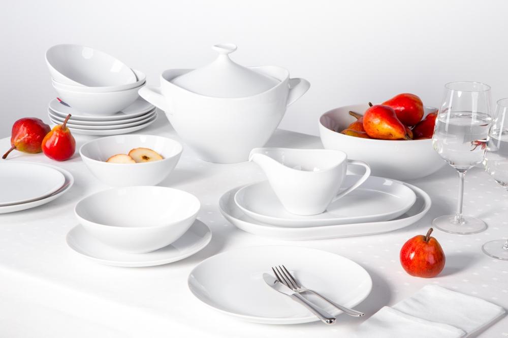 Zestaw obiadowy dla 6 osób porcelana MariaPaula Moderna Biała (24 elementy)