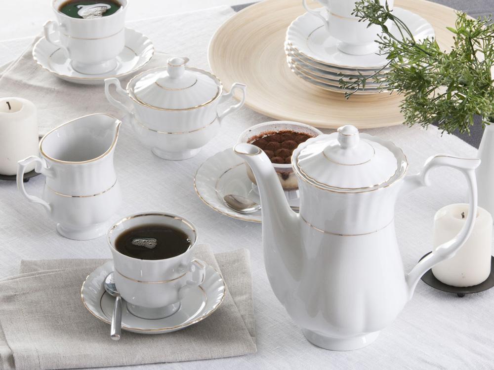 Serwis / Zestaw do kawy na 12 osób Chodzież Iwona (39 elementów)