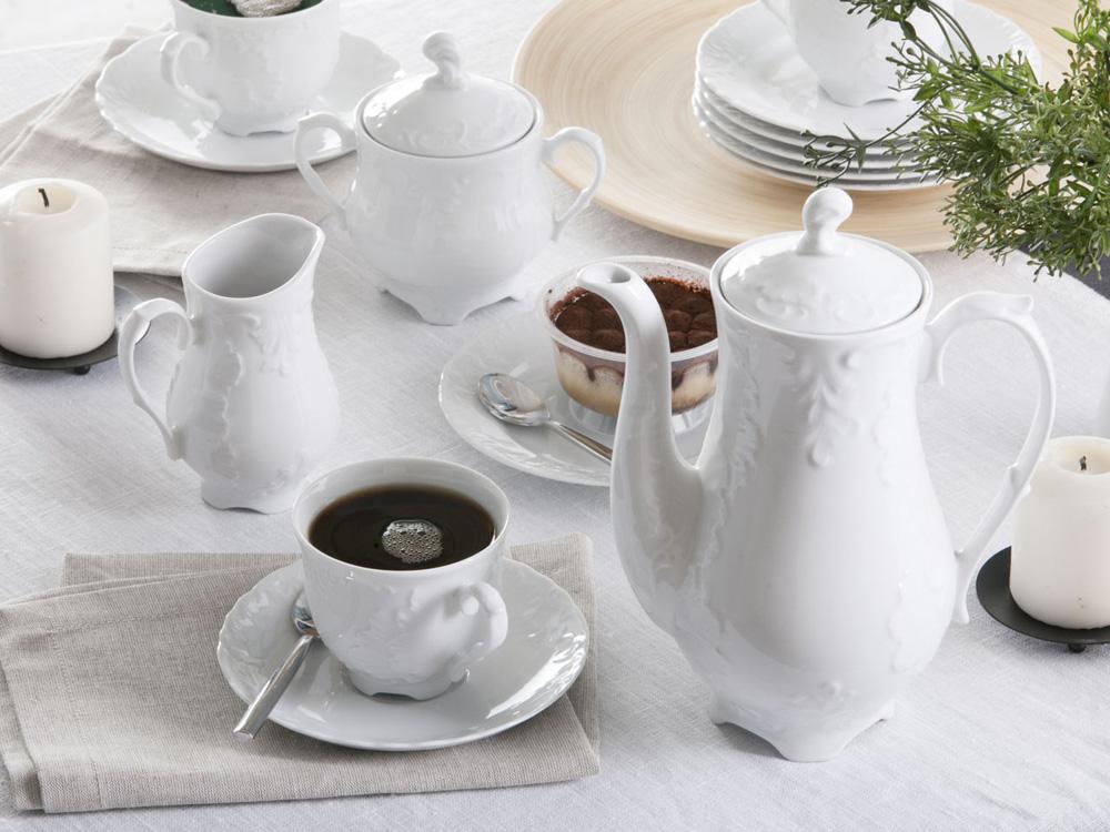 Zestaw do kawy dla 12 osób porcelana Ćmielów Rococo 0001