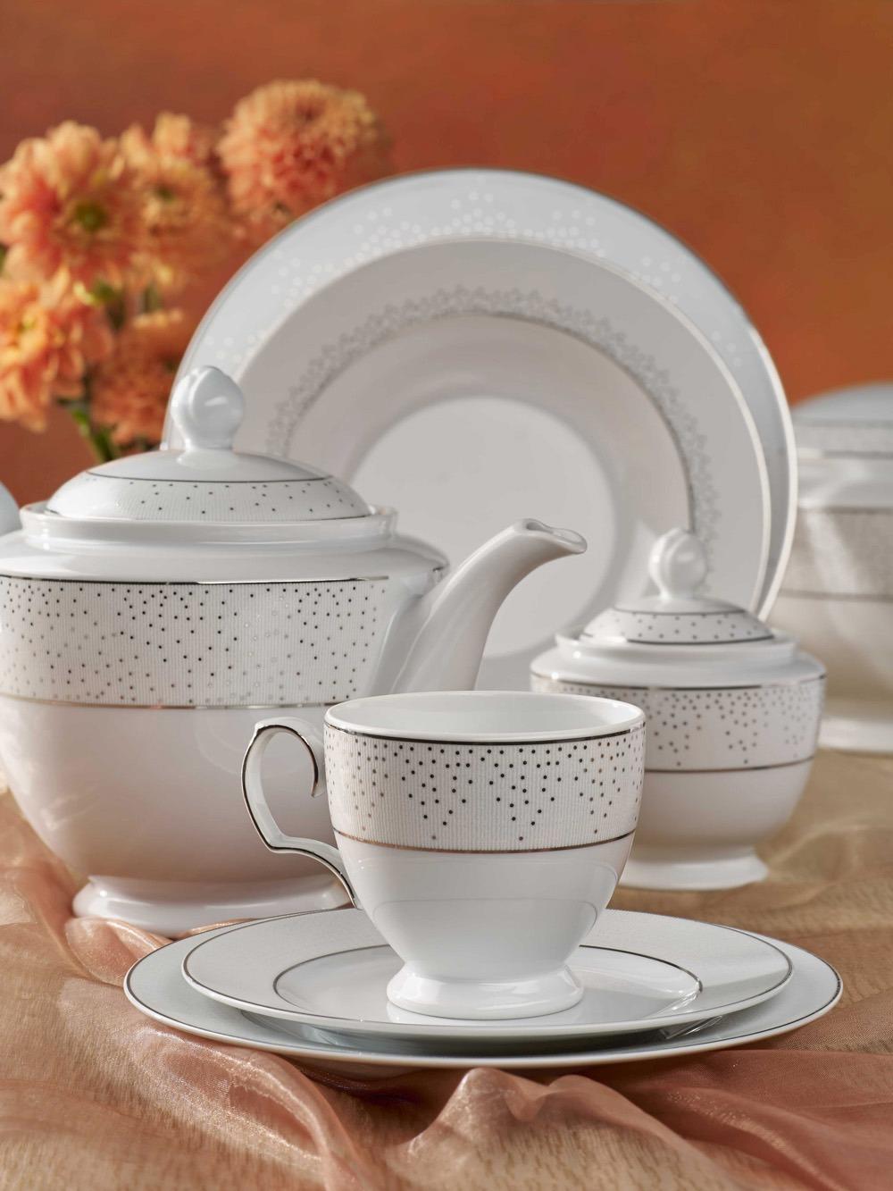 Serwis / zestaw kawowy na 12 osób porcelana MariaPaula Snow