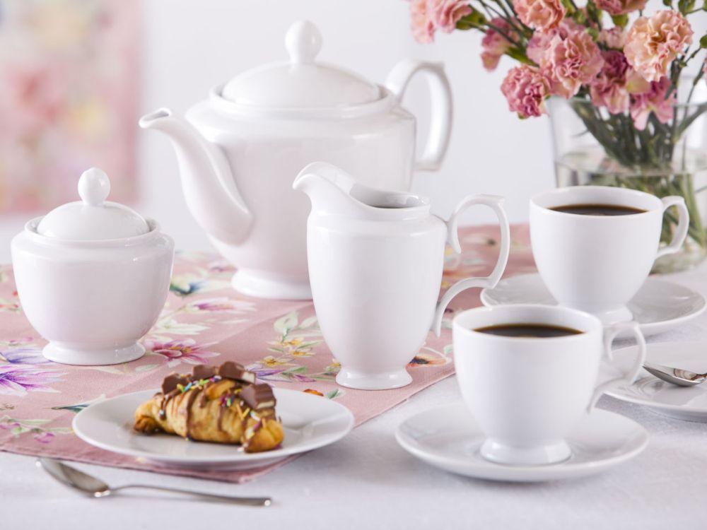 Serwis / Zestaw kawowy na 12 osób porcelana MariaPaula Biała 39 elementów