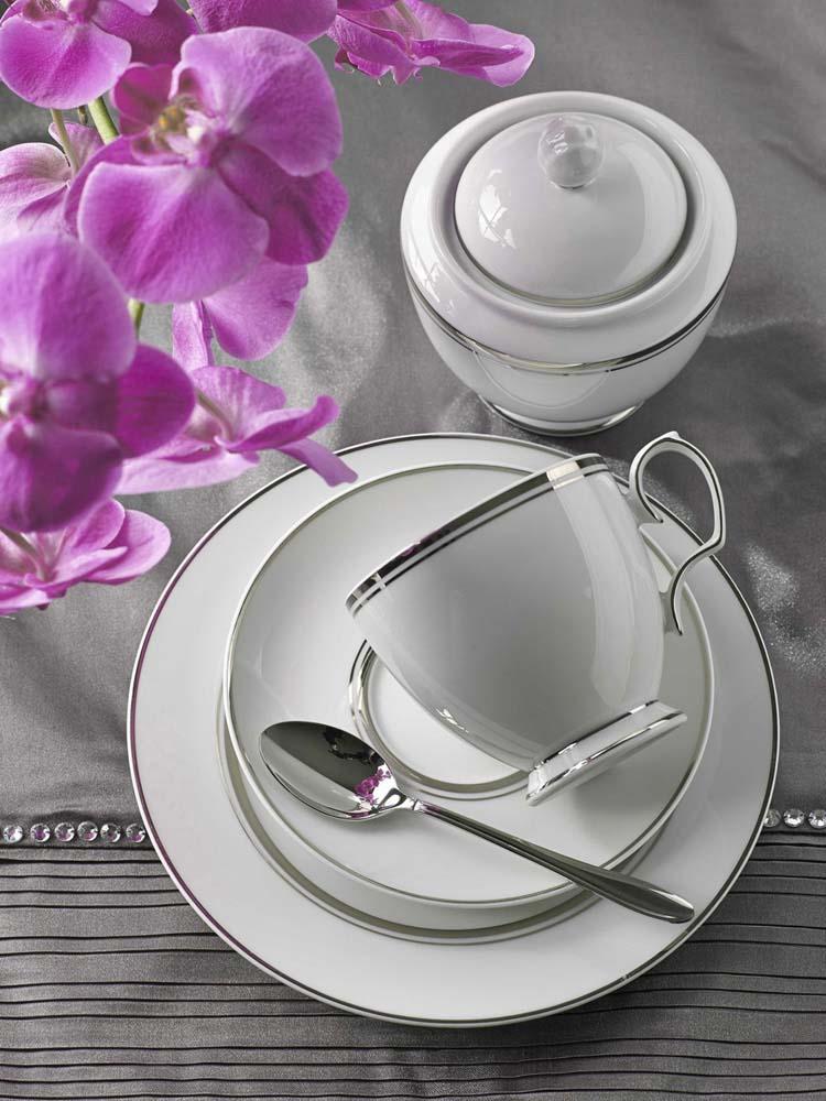Serwis / Zestaw kawowy na 12 osób porcelana MariaPaula Platynowa Linia 39 elementów