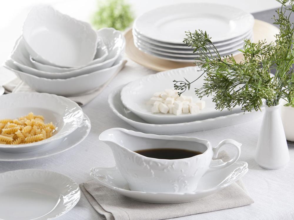 Zestaw obiadowy dla 12 osób porcelana Ćmielów Rococo 0001