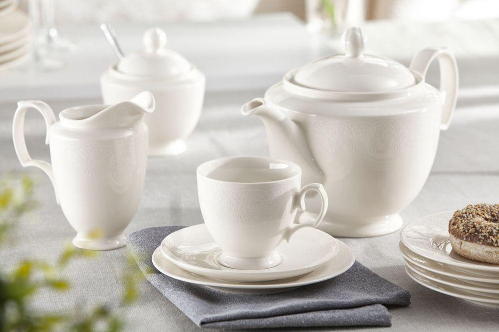 Zestaw kawowy dla 12 osób porcelana MariaPaula Ecru Queen 12/39