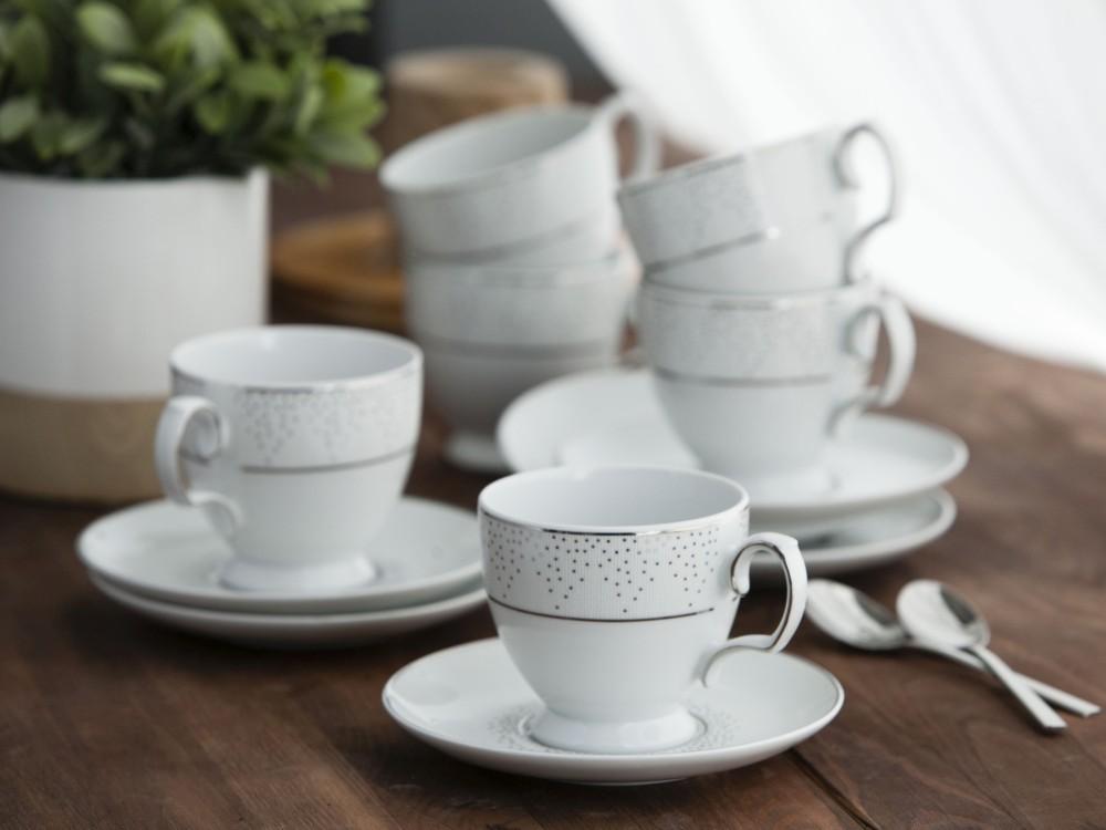 Zestaw kawowy dla 6 osób porcelana MariaPaula Snow 6/12, opakowanie prezentowe