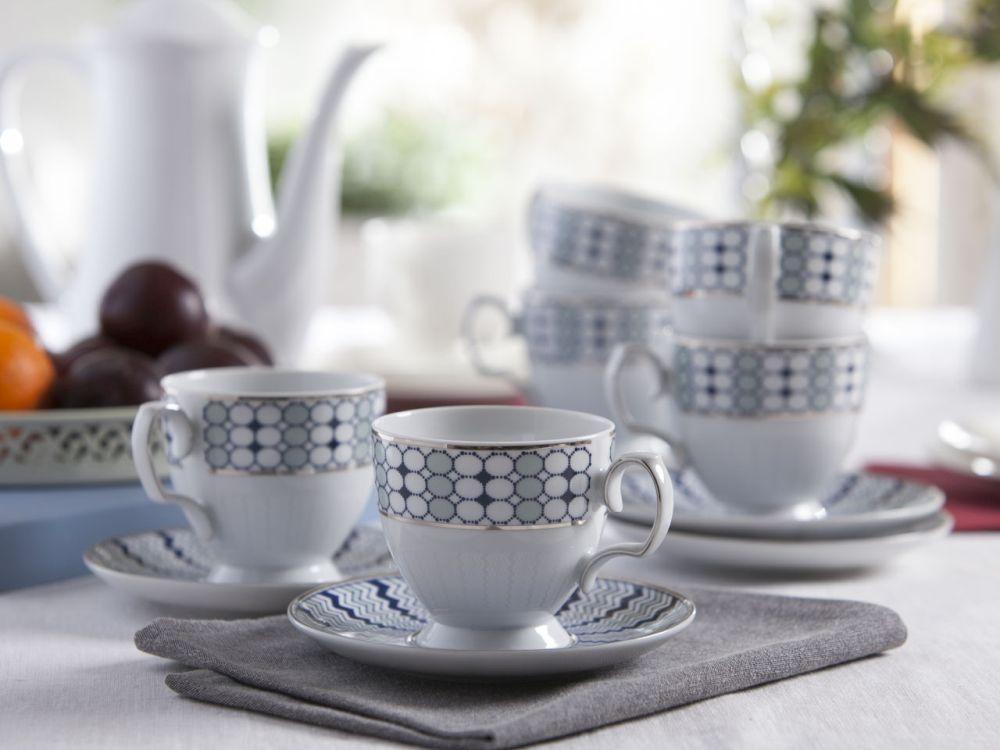 Zestaw kawowy dla 6 osób porcelana MariaPaula Kantata, opakowanie prezentowe