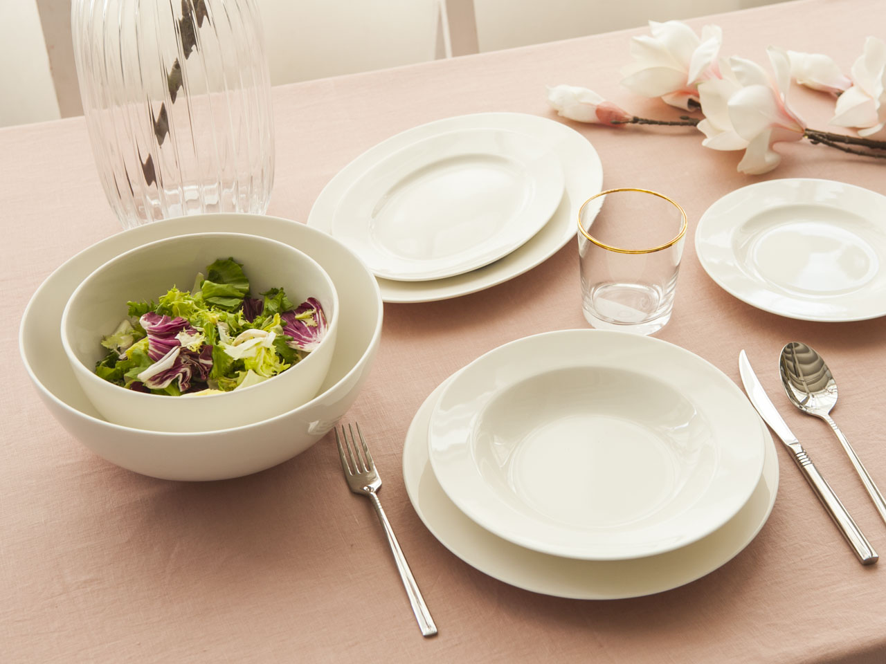 Serwis / Zestaw obiadowy na 6 osób MariaPaula Ecru Nova (23 elementy)