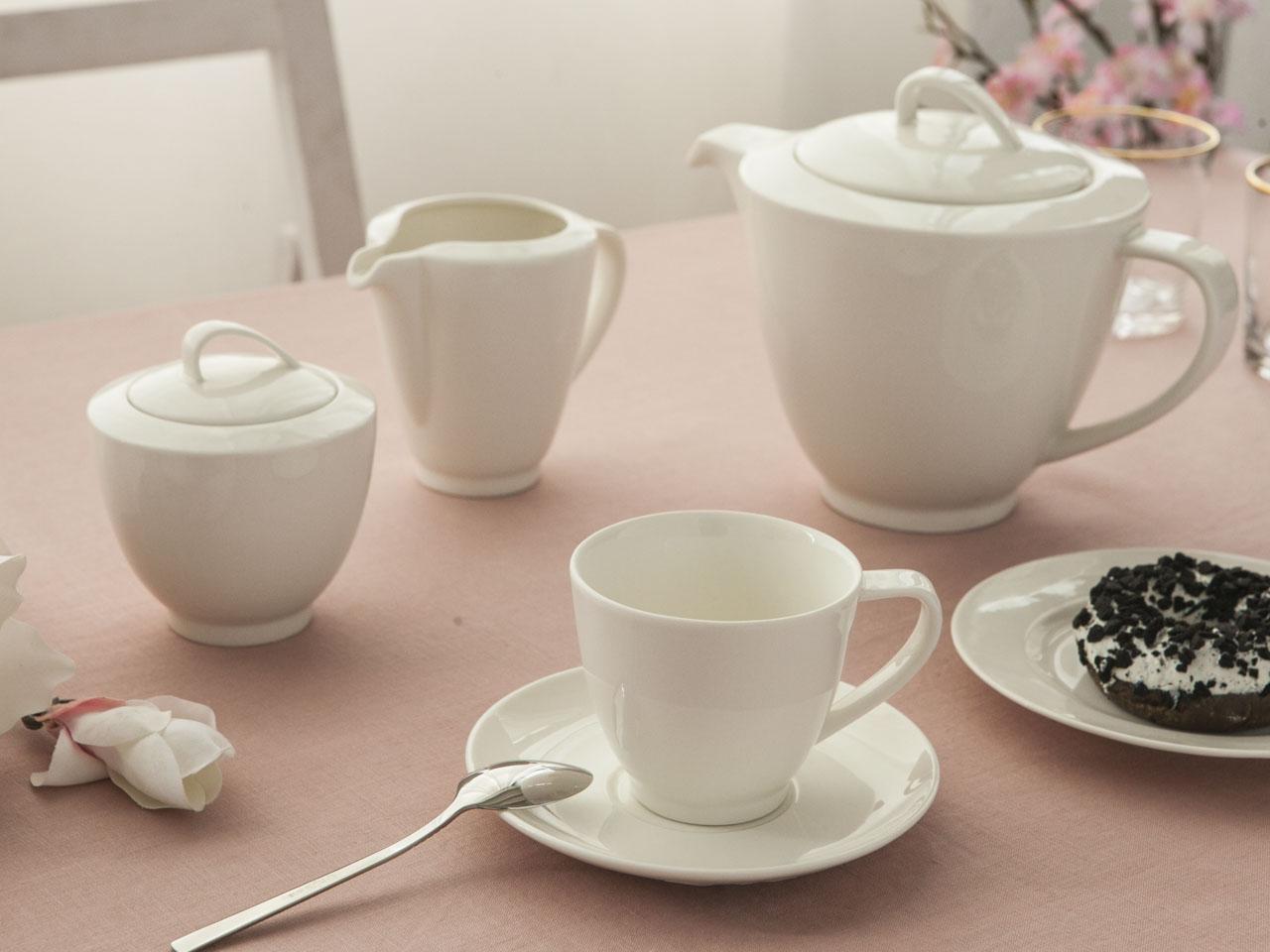 Serwis / Zestaw kawowy na 6 osób MariaPaula Ecru Nova (21 elementów)