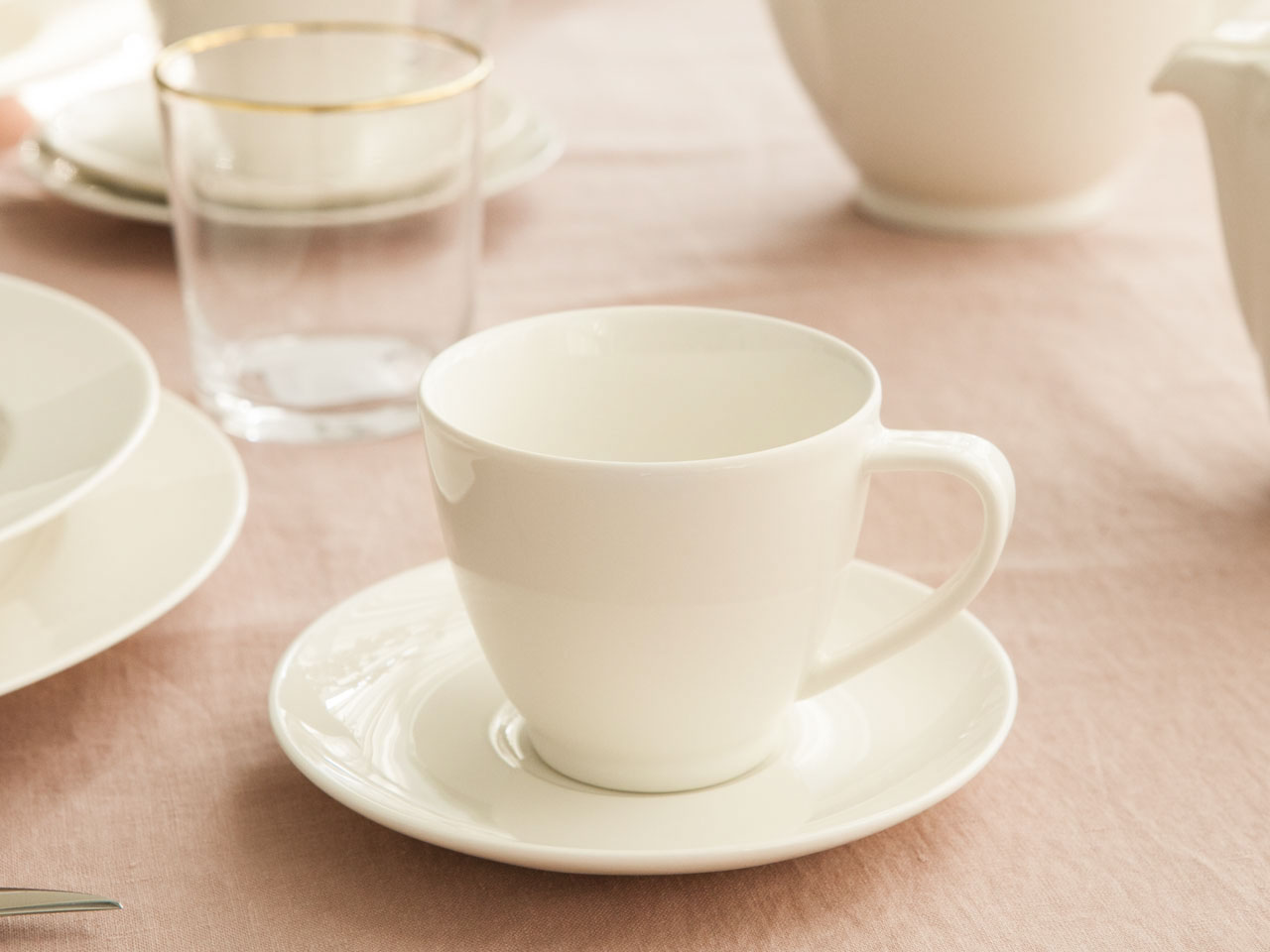 Serwis / Zestaw kawowy na 6 osób MariaPaula Ecru Nova (12 elementów)