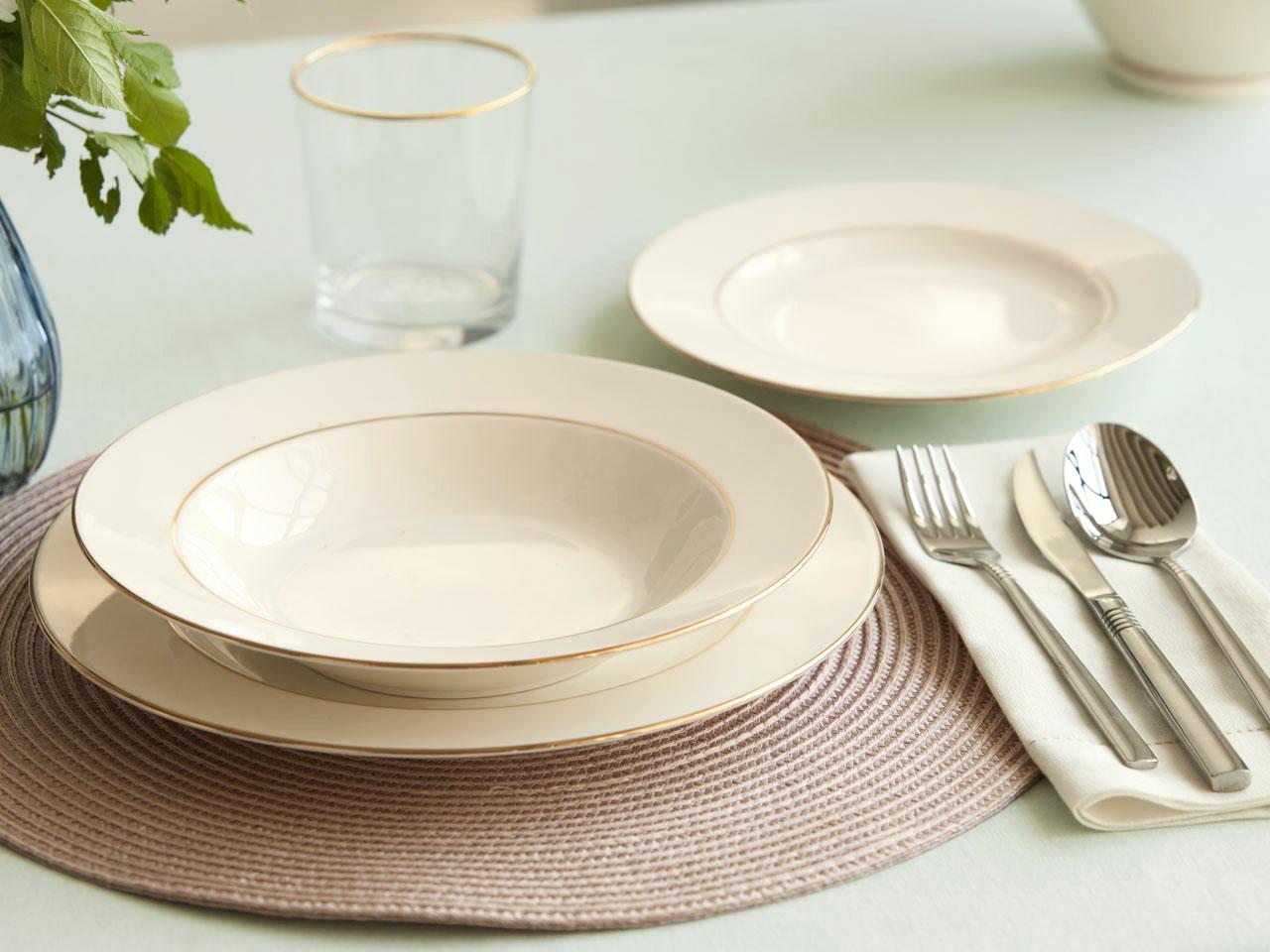 Serwis / Zestaw obiadowy na 6 osób MariaPaula Ecru Nova Złota Linia (18 elementów)