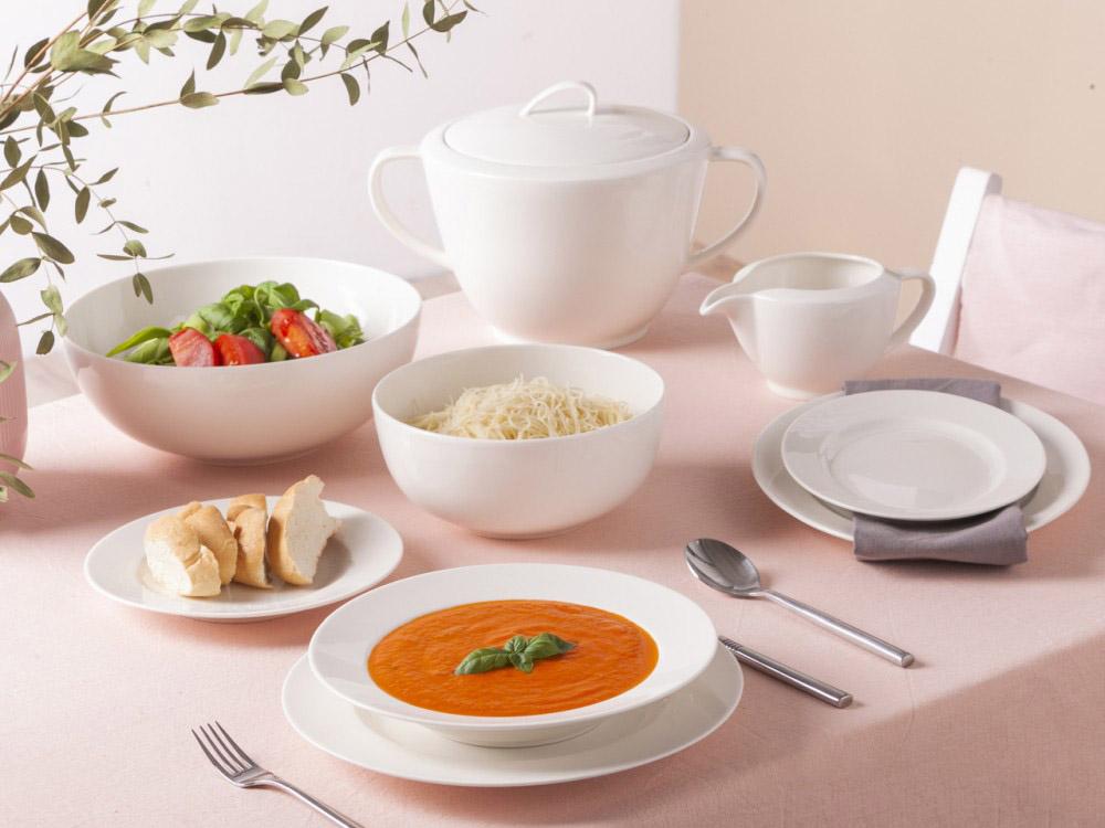 Serwis / zestaw obiadowy dla 6 osób porcelana MariaPaula Nova Ecru (24 elementy)