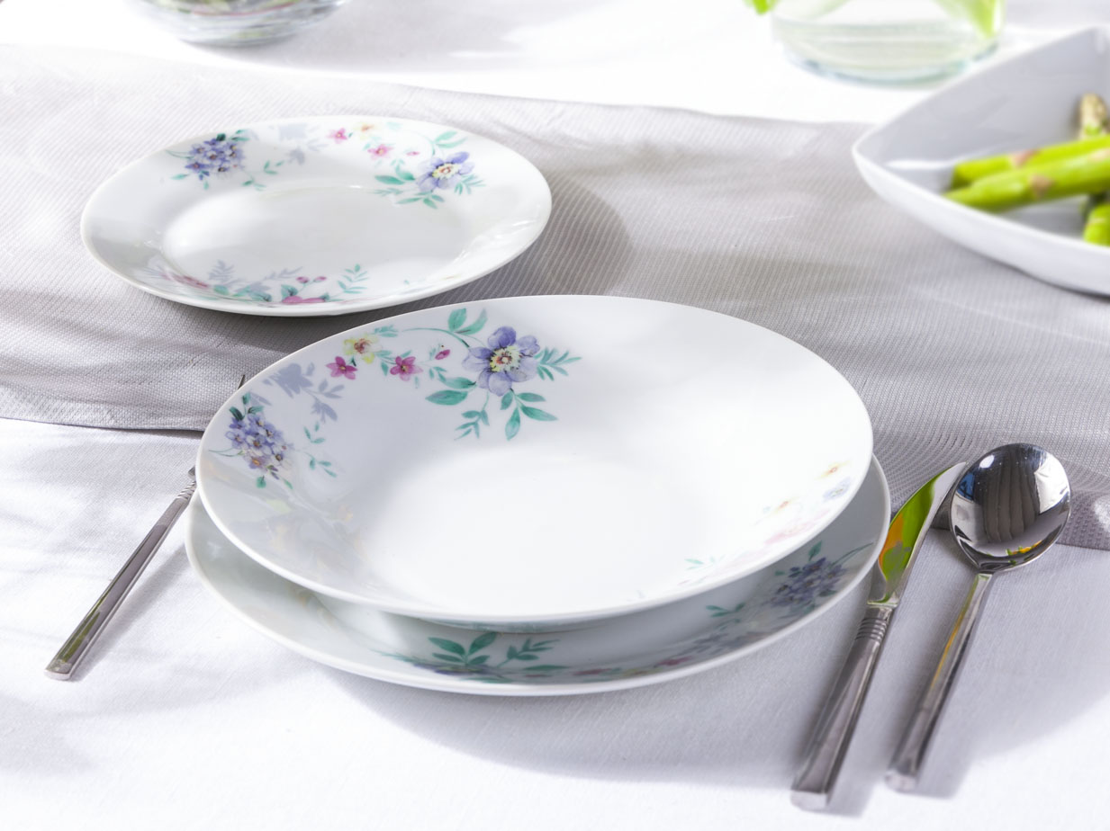 Zestaw obiadowy dla 6 osób Altom Design Bianka (18 elementów)
