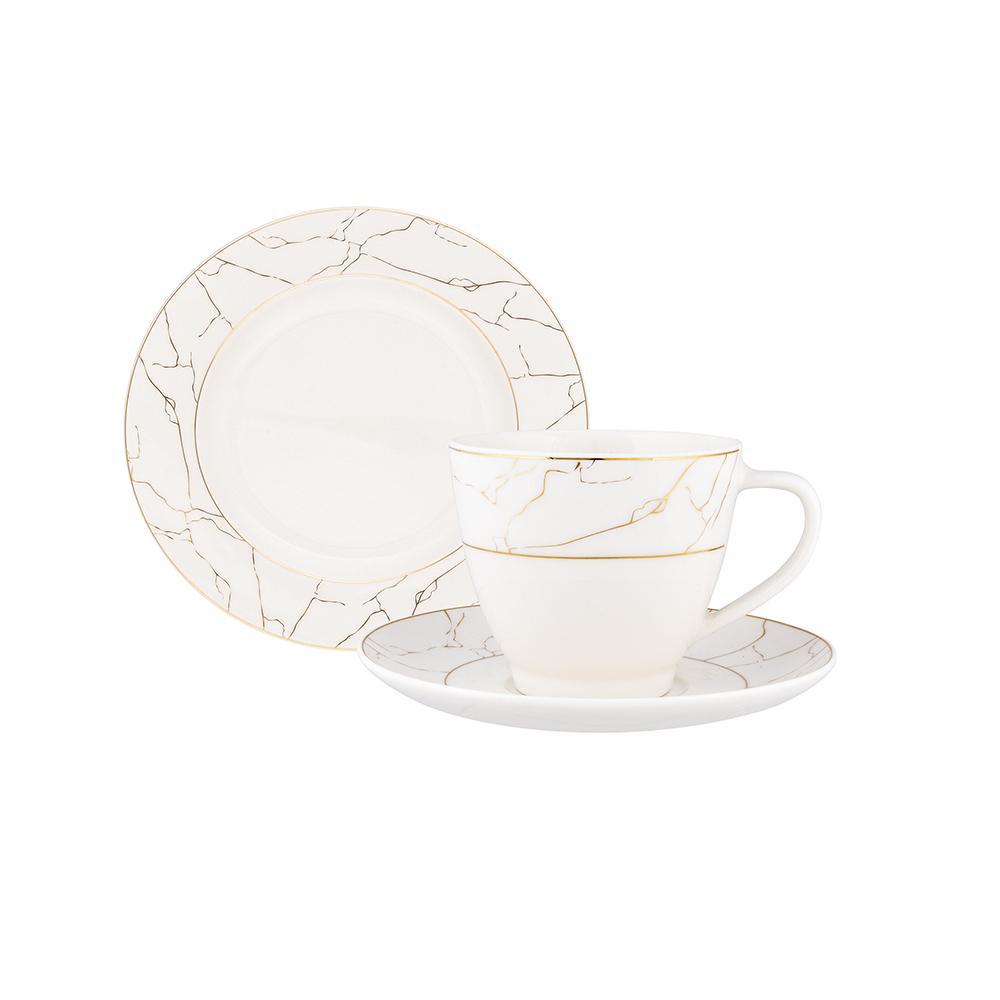 Serwis / zestaw kawowy dla 6 osób Porcelana MariaPaula Nova Ecru Marble (18 elementów)