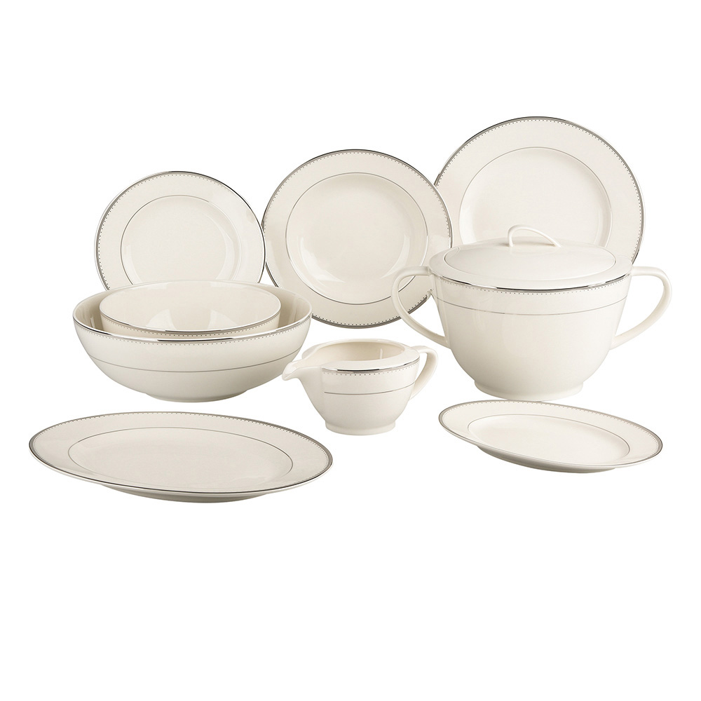 Zestaw obiadowy na 6 osób porcelana MariaPaula Nova Ecru Pure (24 elementy)