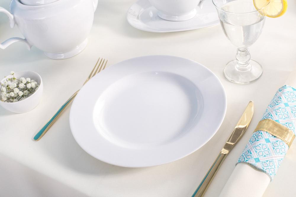 Talerz obiadowy porcelanowy MariaPaula Biała 26cm