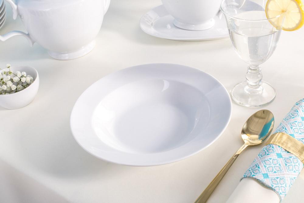 Talerz do zupy głęboki porcelana MariaPaula Biała 23cm