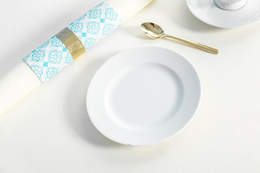 Talerz deserowy porcelana MariaPaula Biała 17cm