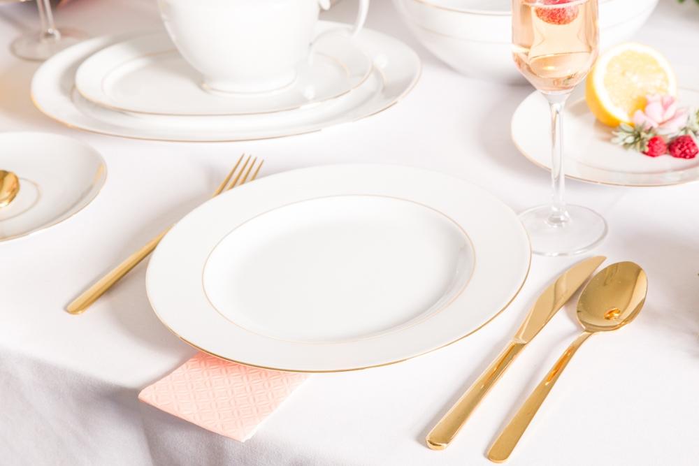 Talerz obiadowy porcelana MariaPaula Złota Linia 26cm