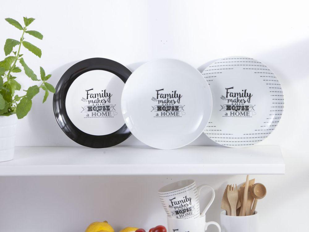 Talerz deserowy porcelana Altom Design kolekcja Family Home 20 cm