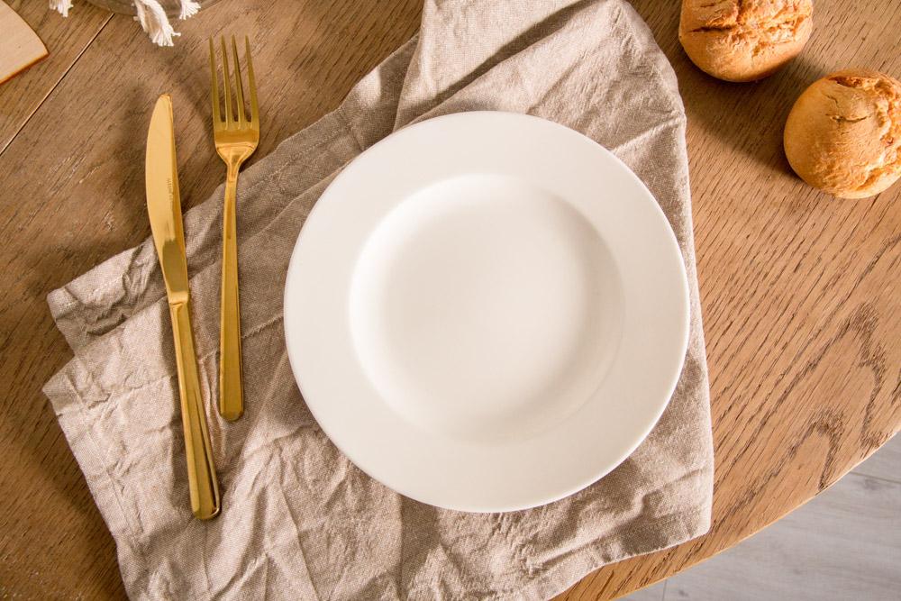 Talerz obiadowy porcelana MariaPaula Ecru 20 cm