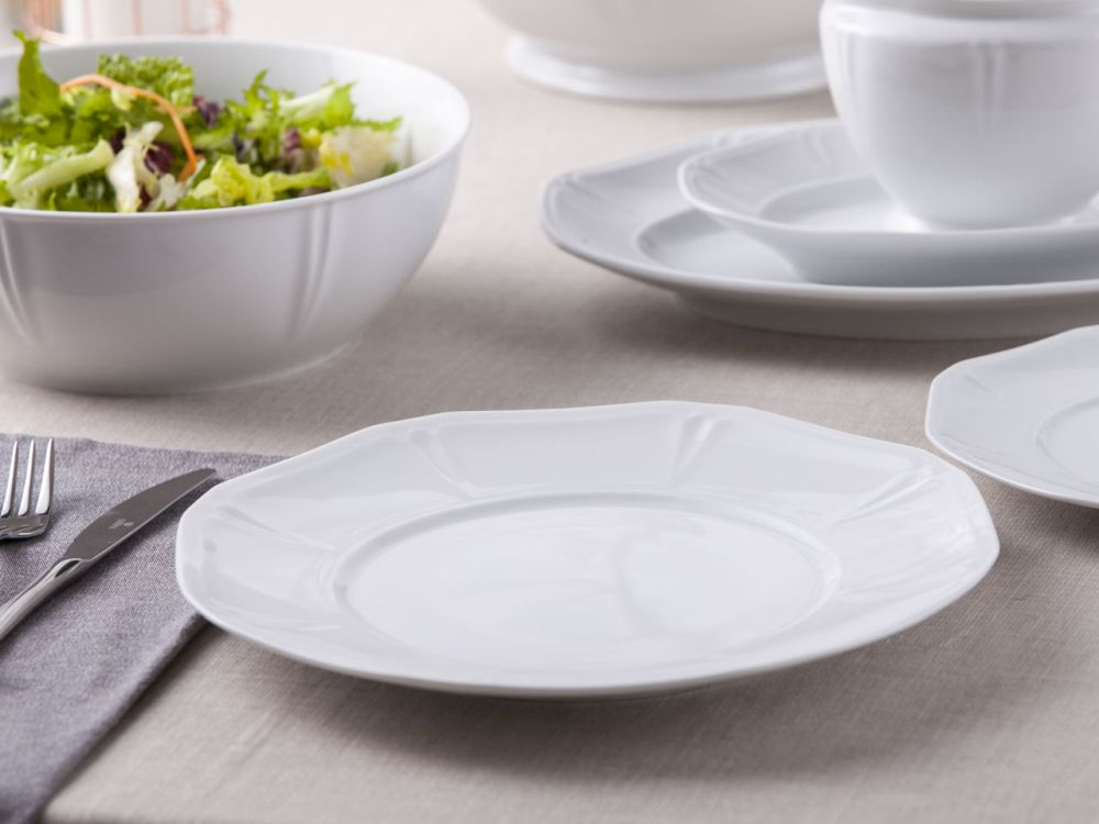 Talerz obiadowy płytki porcelana MariaPaula Geometria Biała 28 cm