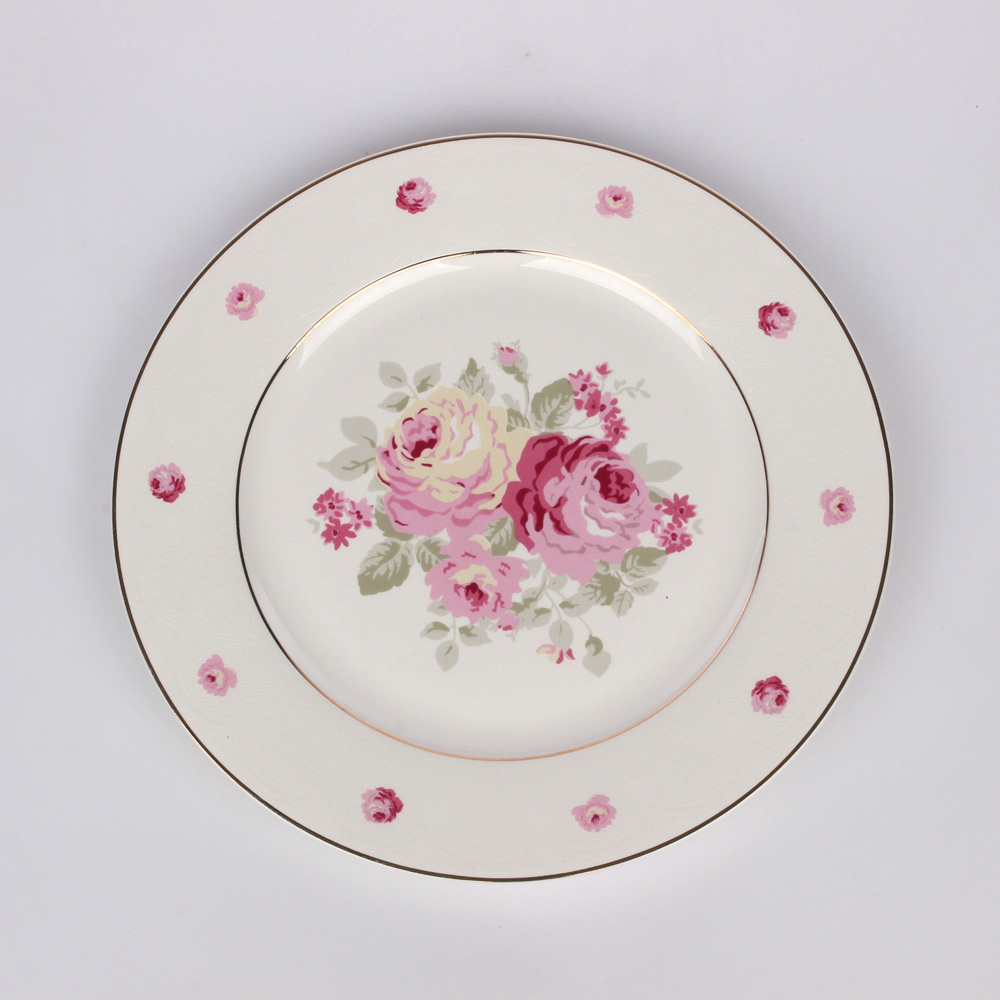 Talerz deserowy porcelana Altom Design Elisa 19 cm