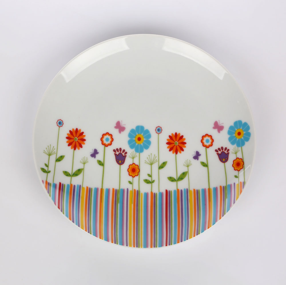 Talerz deserowy porcelana Altom Design kolekcja Crazy Daisy 20 cm
