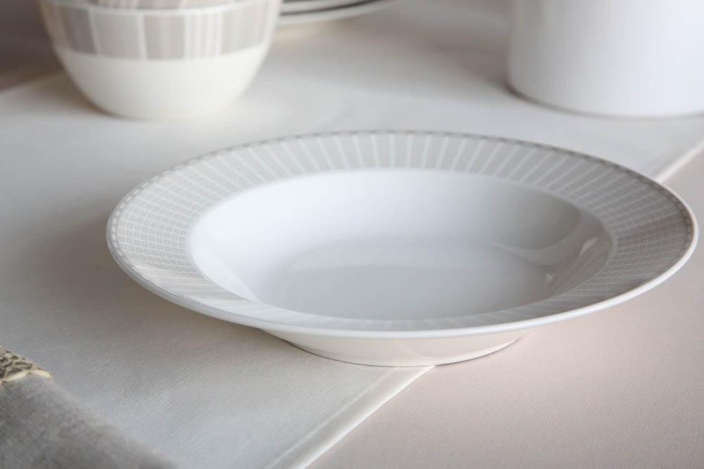 Talerz do zupy głęboki porcelana MariaPaula Ecru Alison 23 cm