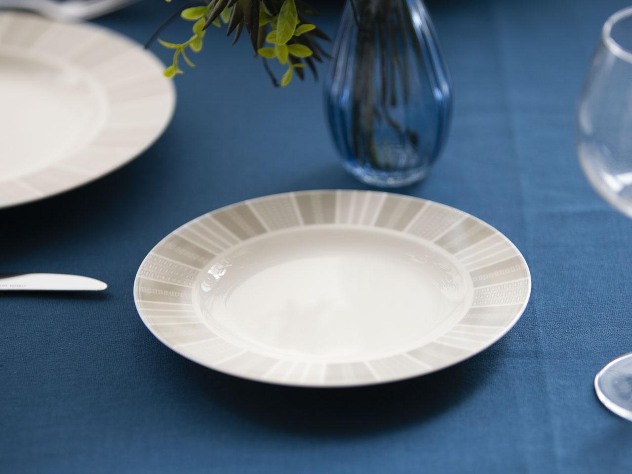 Talerz deserowy porcelana MariaPaula Ecru Alison 20 cm