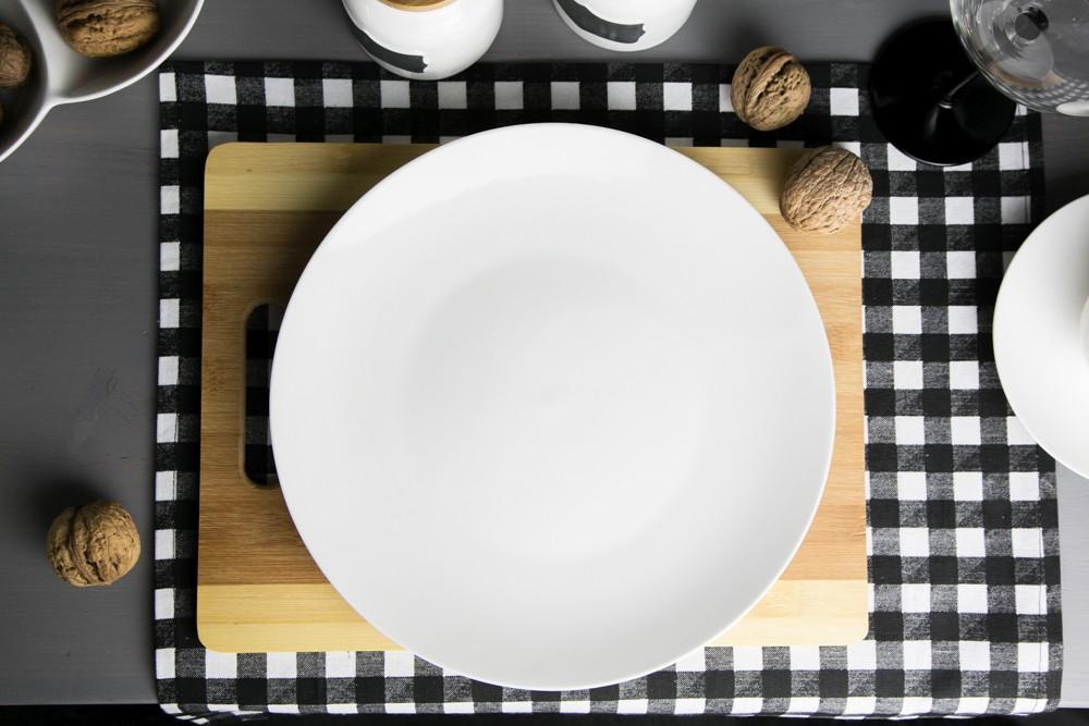 Talerz obiadowy płytki porcelanowy Altom Design Bella kremowa 26 cm Kartonik