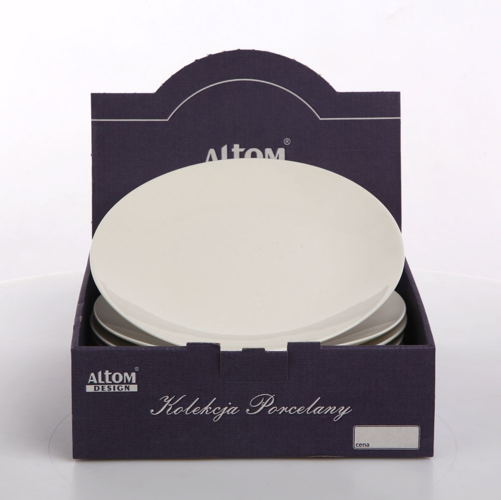 Talerz deserowy porcelanowy Altom Design Bella kremowa 20 cm Kartonik