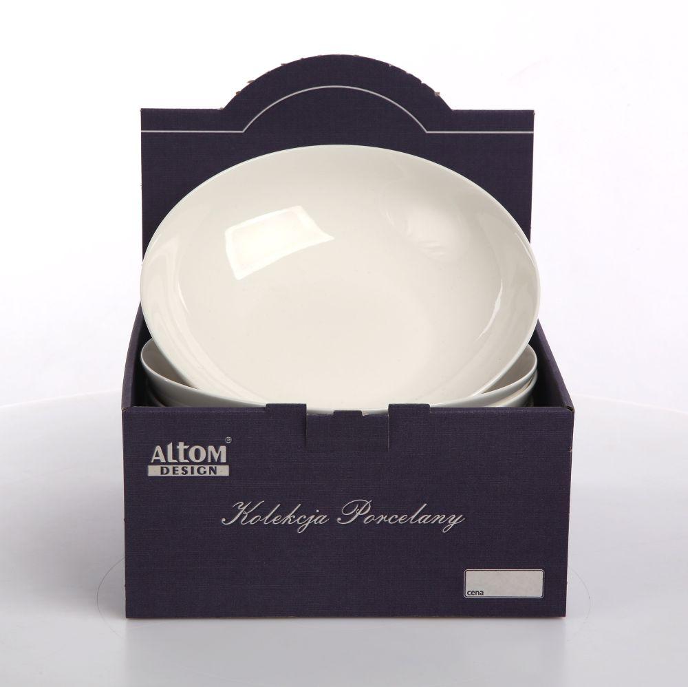 Talerz do zupy głęboki porcelanowy Altom Design Bella kremowa 20 cm Kartonik