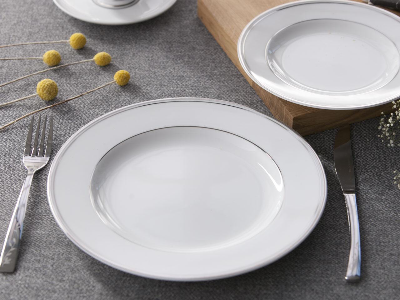 Talerz obiadowy / płytki porcelana MariaPaula Platynowa Linia 26 cm