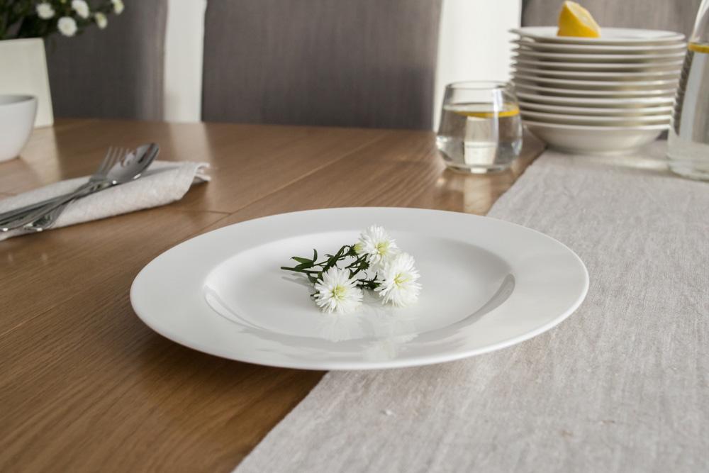 Talerz obiadowy płytki porcelanowy Karolina 26 cm (gatunek III)