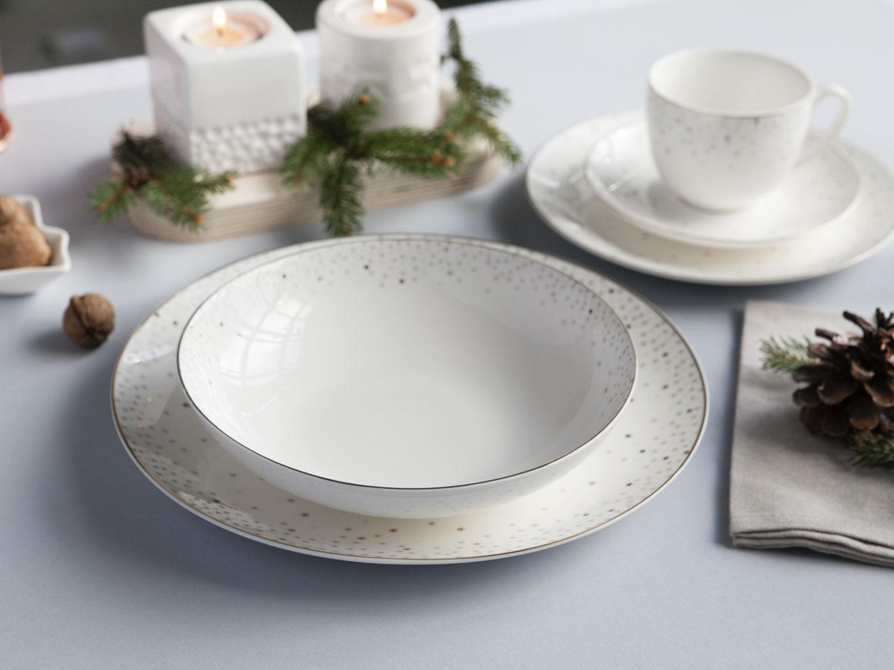 Talerz do zupy głęboki porcelanowy Altom Design Stella 20 cm