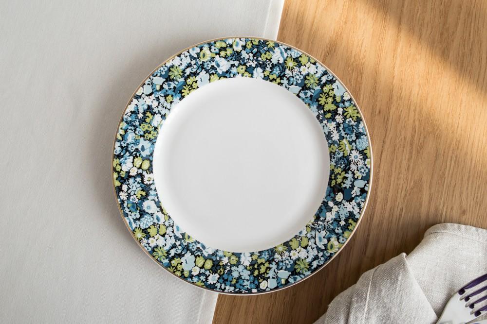 Talerz deserowy porcelanowy Altom Design Secret Garden 19 cm