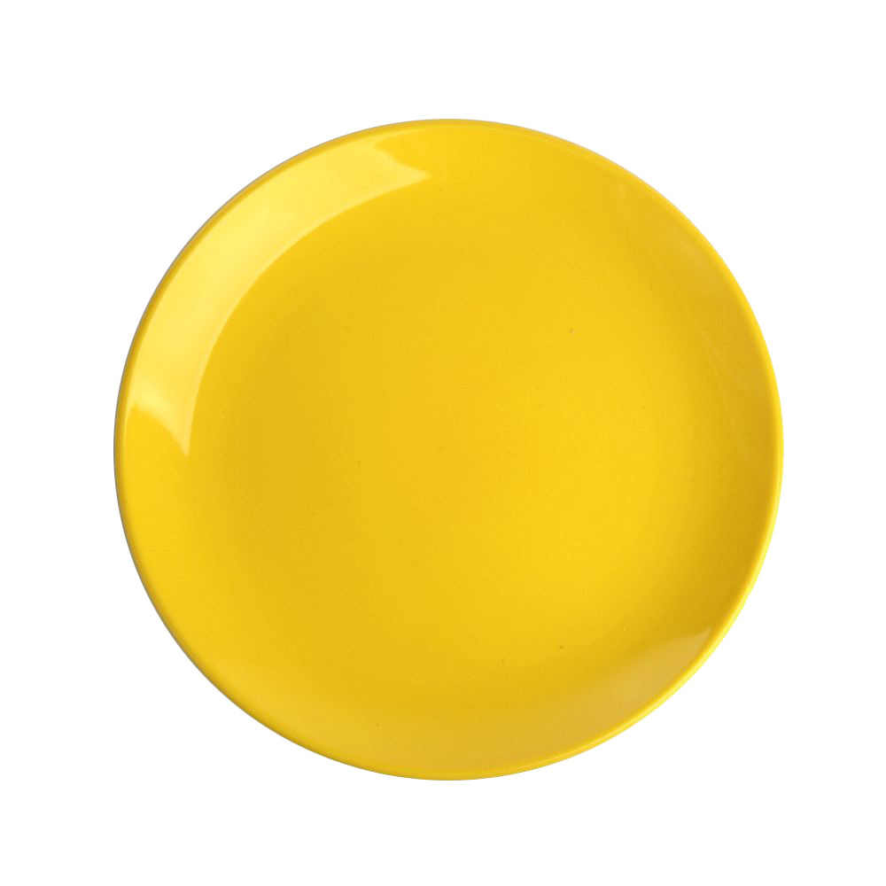 Talerz deserowy Altom Design Monokolor żółty 19 cm