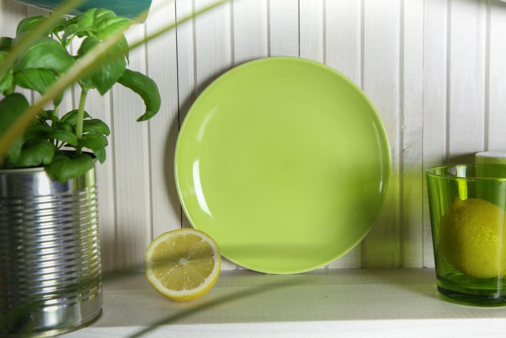 Talerz deserowy porcelanowy Altom Design Monokolor zielony 19 cm