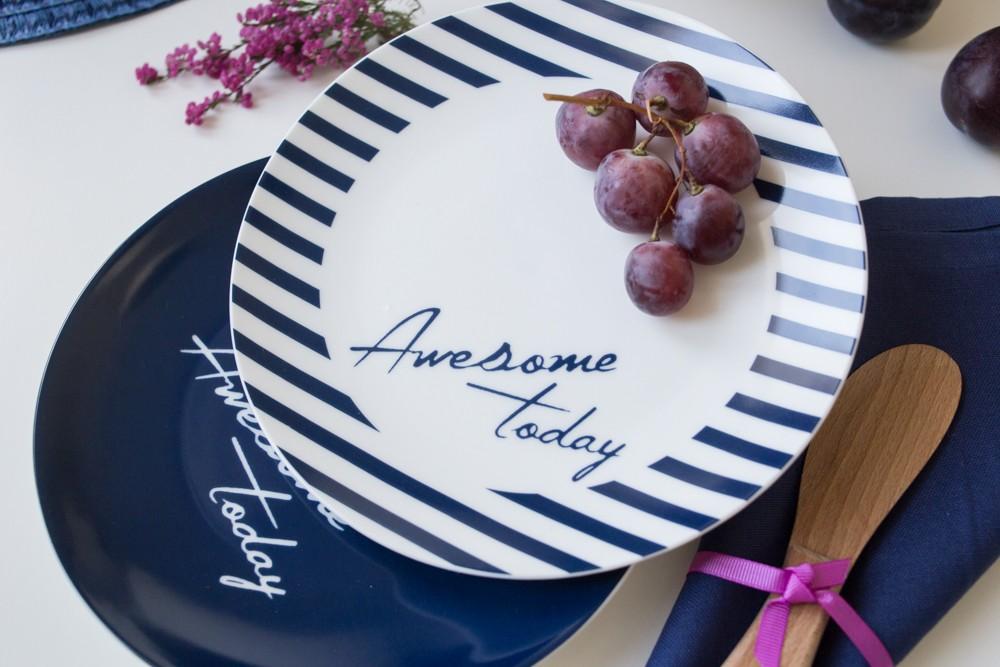 Talerz deserowy porcelanowy Altom Design Today 20 cm (2 wzory)