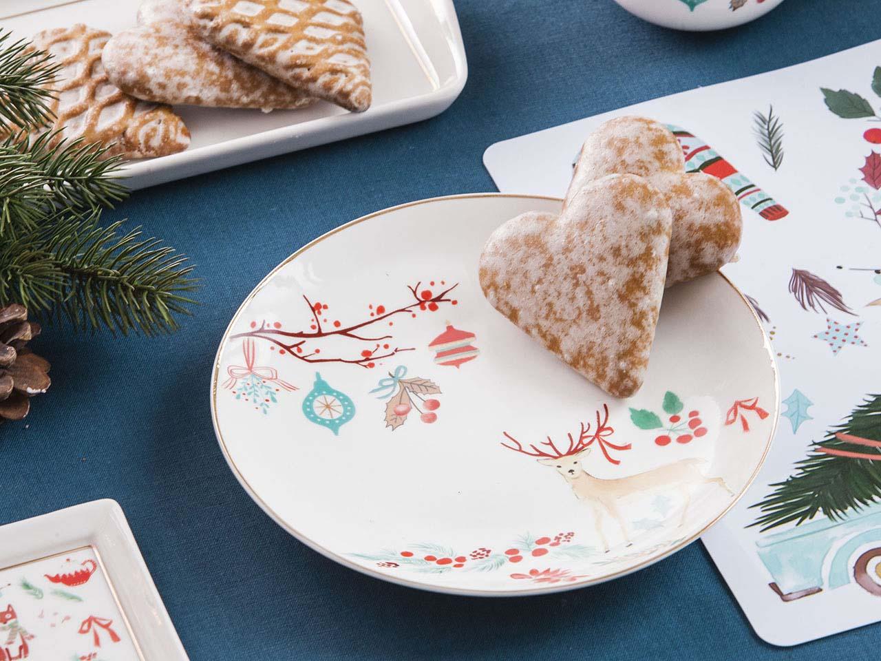 Talerz deserowy porcelanowy świąteczny Boże Narodzenie Altom Design Magia Północy 20 cm