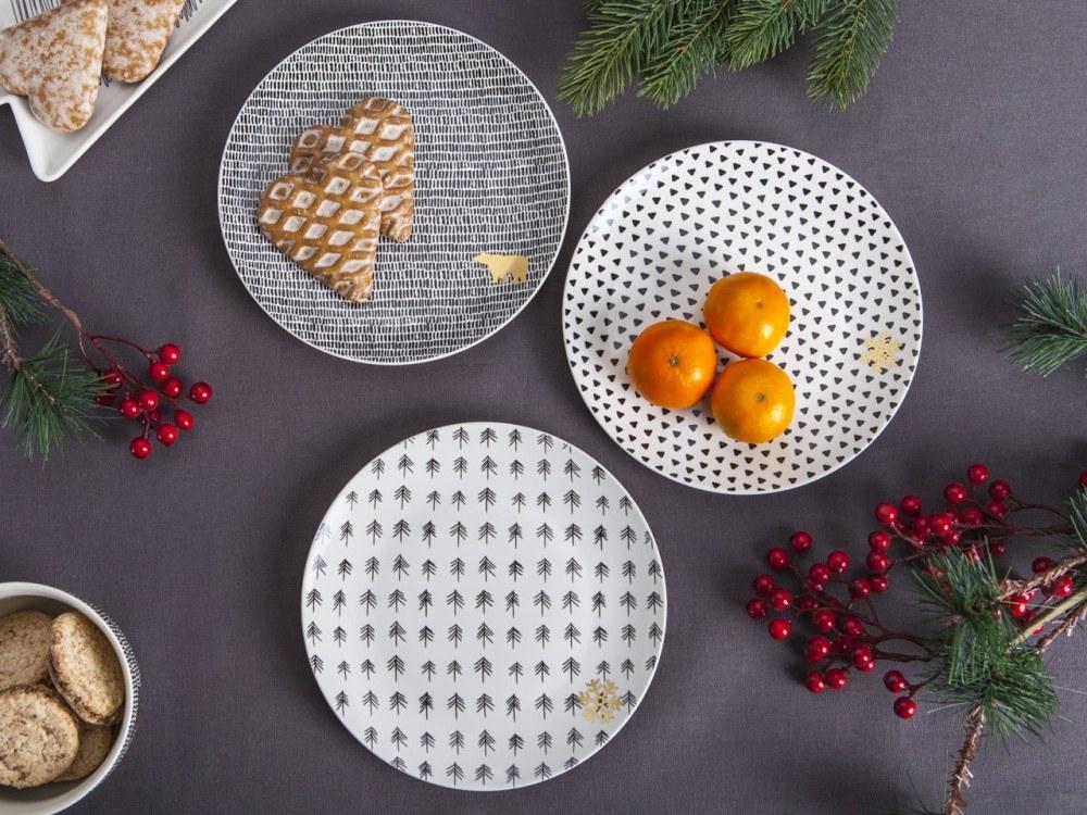 Talerz deserowy Altom Design Nordic Winter Gwiazdka 20 cm (3 wzory)