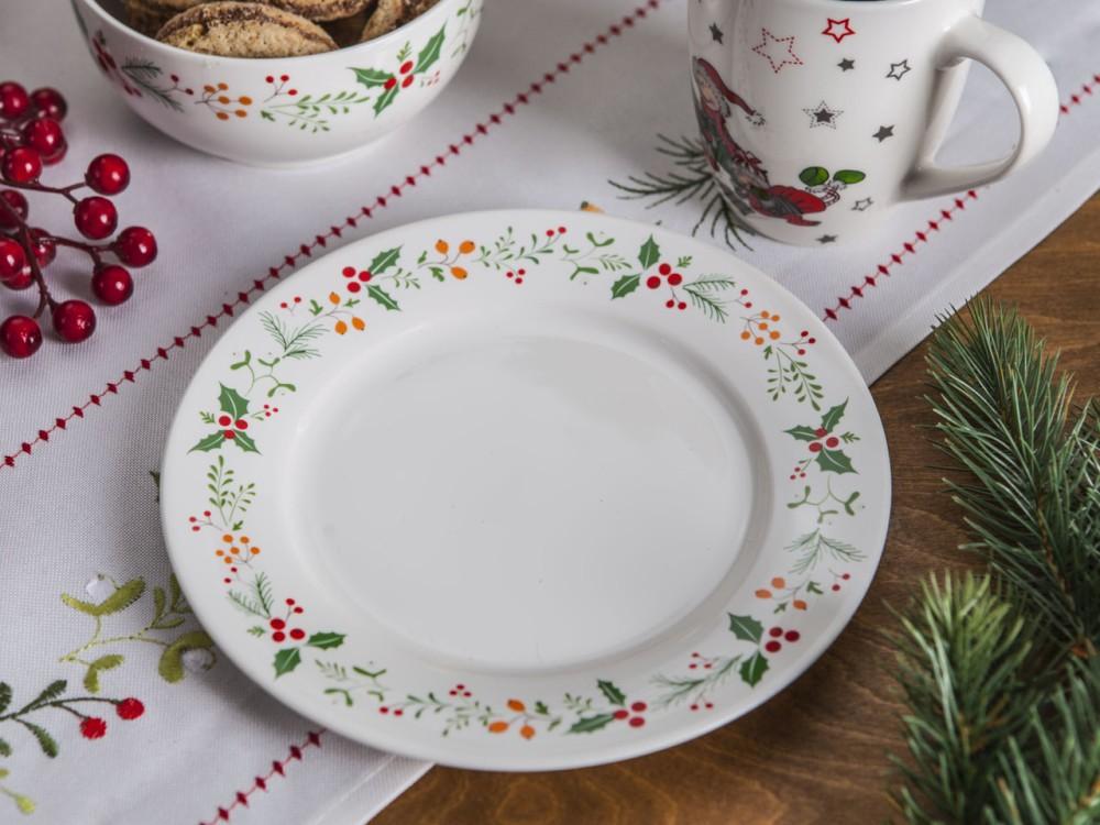 Talerz deserowy porcelanowy Boże Narodzenie Altom Design Joy 19 cm