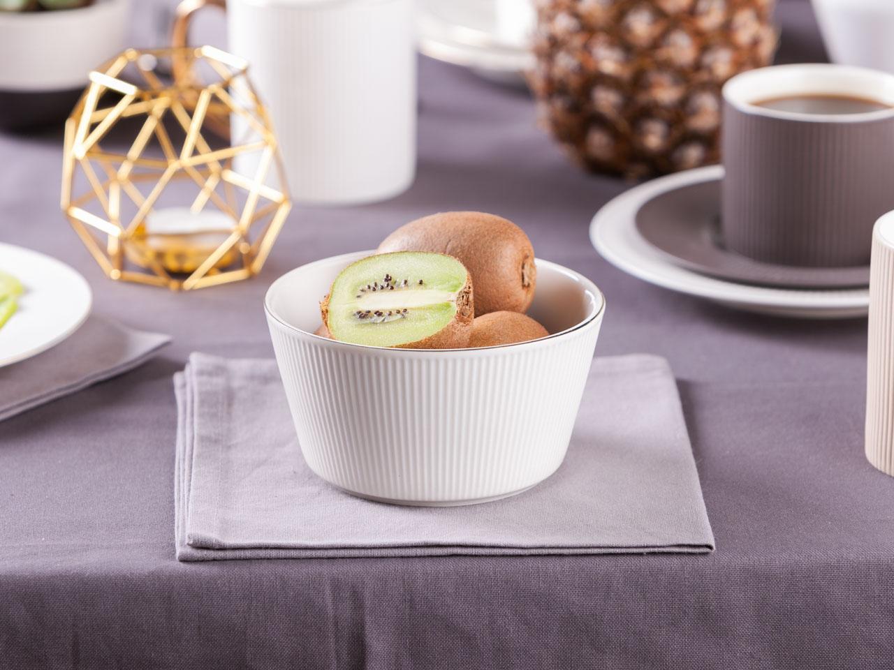 Miska / salaterka porcelanowa Altom Design Urban White Złota Linia 13 cm